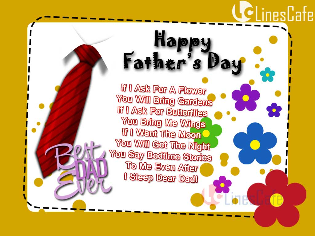 Greetings Images With Best Dad Ever Quotes For Wishing Happy Father's Day To Father, Friend, Family