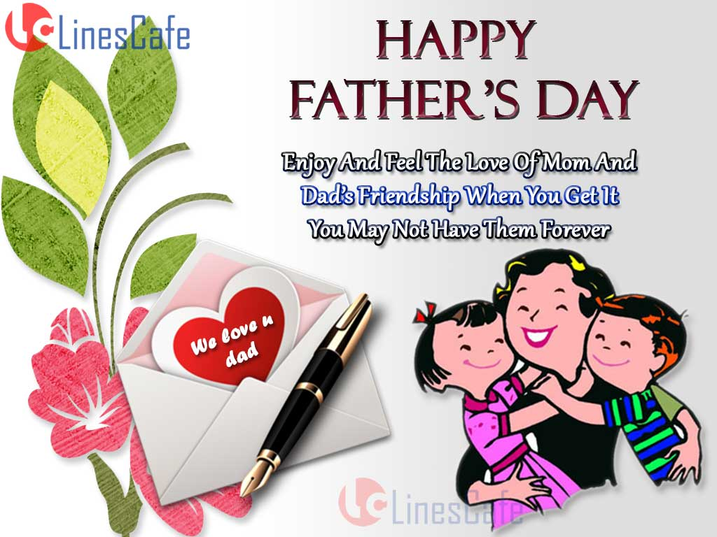 Cute Father's Day Wishes Quotes From Both Daughter And Son To Wish Happy Father's Day Greetings