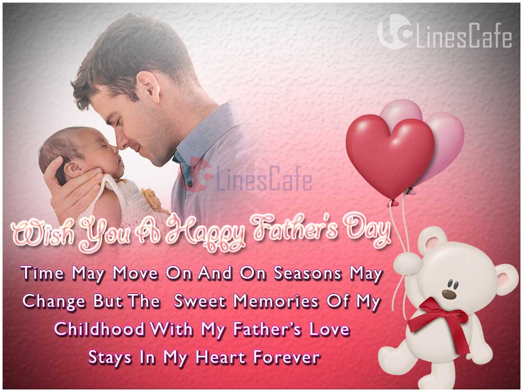 Happy Father's Day Greetings With Cute Poem About Father For Wishing Father's Day Wishes To Dad