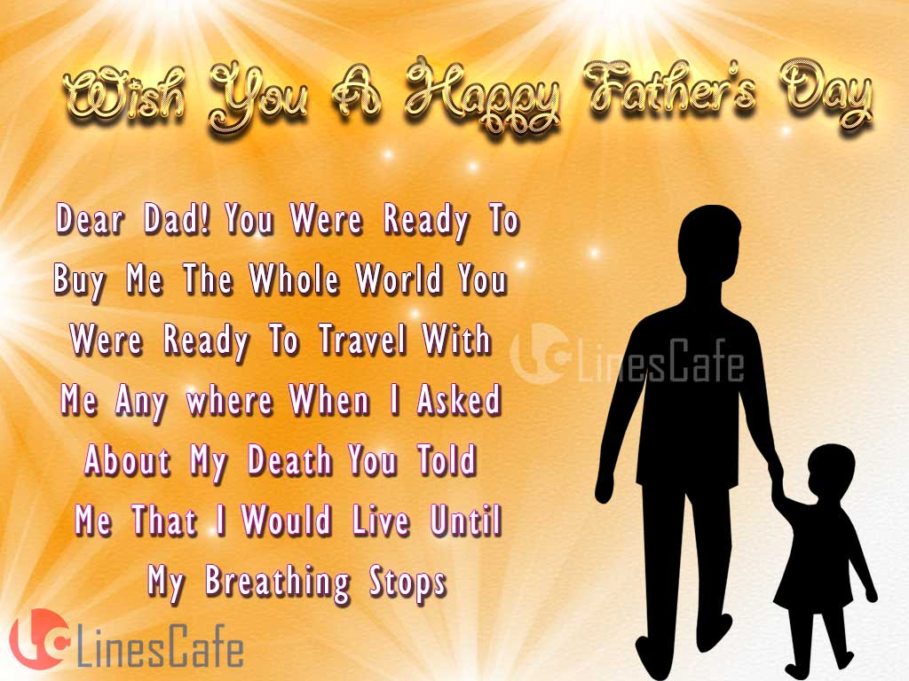 Heart Touching Cute Father's Day Quotes Pictures For Father's Day Wishes To Share In Facebook And Whatsapp