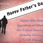 Father's Day Poem For Wishing Daddy